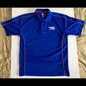 HOBBY LOBBY Team World Royal Blue Golf Polo Sz Med